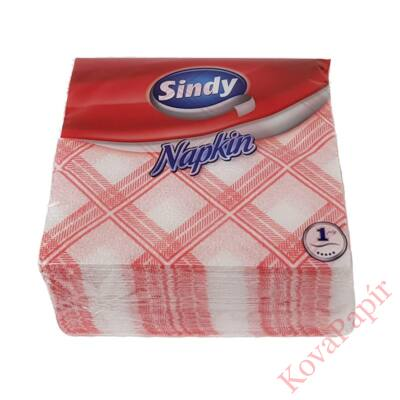 Szalvéta SINDY kockás 33x33 cm piros 45 darab