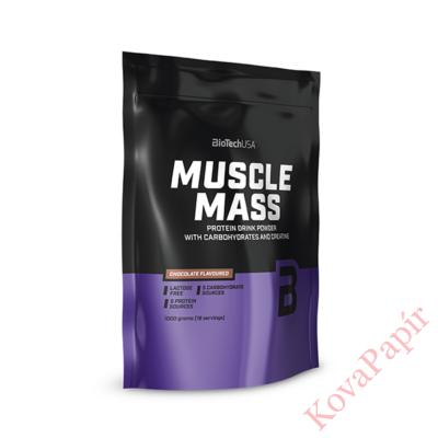 Szénhidrát-és fehérje italpor BioTechUSA Muscle Mass csokoládé 1000 g
