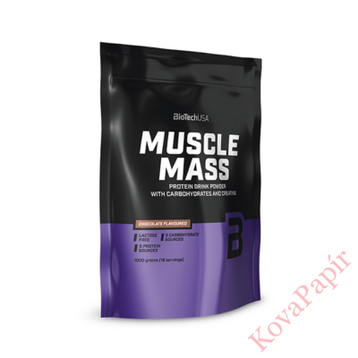 Szénhidrát-és fehérje italpor BioTechUSA Muscle Mass vanília 1000 g