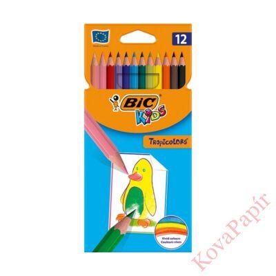 Színes ceruza BIC Kids Tropicolors hatszögletű 12 db/készlet