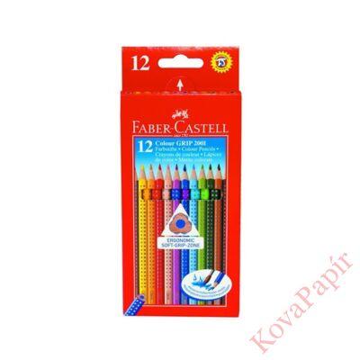 Színes ceruza FABER-CASTELL Grip háromszögletű 12 db/készlet