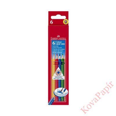 Színes ceruza FABER-CASTELL Grip háromszögletű 6 db/készlet
