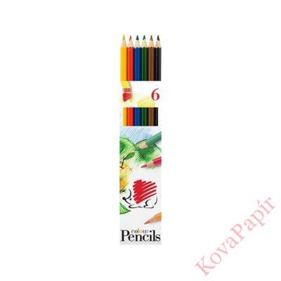Színes ceruza ICO Süni hatszögletű 6 db/készlet