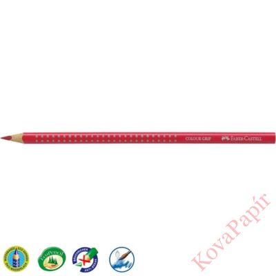 Színes ceruza FABER-CASTELL Grip 2001 háromszögletű sötét piros