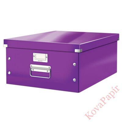 Tároló doboz LEITZ Click&Store A/3 lila