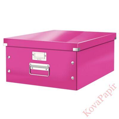 Tároló doboz LEITZ Click&Store A/3 rózsaszín
