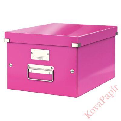Tároló doboz LEITZ Click&Store A/4 rózsaszín