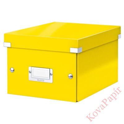 Tároló doboz LEITZ Click&Store A/5 sárga