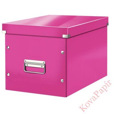 Tároló doboz LEITZ Click&Store L méret kocka rózsaszín
