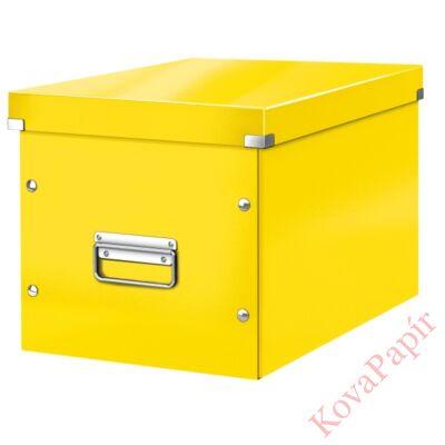 Tároló doboz LEITZ Click&Store L méret kocka sárga