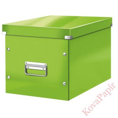 Tároló doboz LEITZ Click&Store L méret kocka zöld