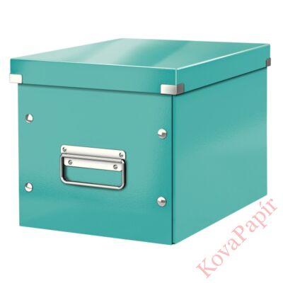 Tároló doboz LEITZ Click&Store M méret kocka jégkék