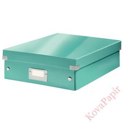 Tároló doboz LEITZ Click&Store rendszerező M méret jégkék