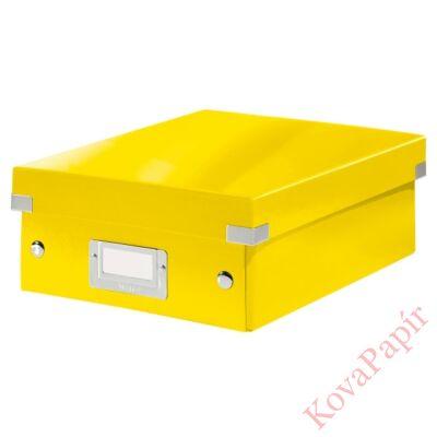 Tároló doboz LEITZ Click&Store rendszerező S méret sárga