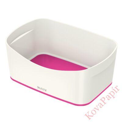 Tároló doboz LEITZ Wow Mybox műanyag fehér/rózsaszín