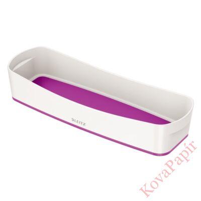 Tároló doboz LEITZ Wow Mybox műanyag keskeny fehér/lila