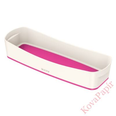 Tároló doboz LEITZ Wow Mybox műanyag keskeny fehér/rózsaszín