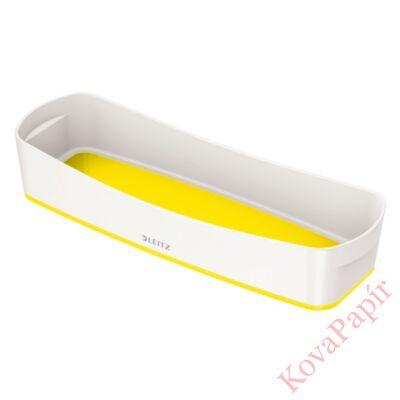 Tároló doboz LEITZ Wow Mybox műanyag keskeny fehér/sárga