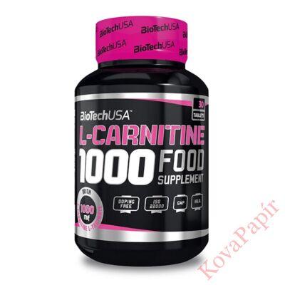 Testsúly-kontroll formulák BIOTECHUSA L-Carnitine 1.000 mg 30 db tabletta