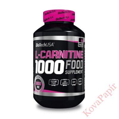 Testsúly-kontroll formulák BIOTECHUSA L-Carnitine 1.000 mg 60 db tabletta