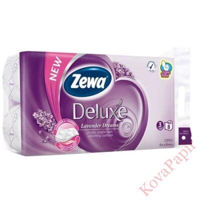 Toalettpapír Zewa Deluxe 3 rétegű 8 tekercses Levendula