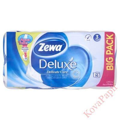 Toalettpapír ZEWA Deluxe 3 rétegű 16 tekercses Pure White