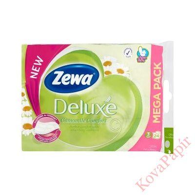 Toalettpapír ZEWA Deluxe 3 rétegű 24 tekercses Camomile