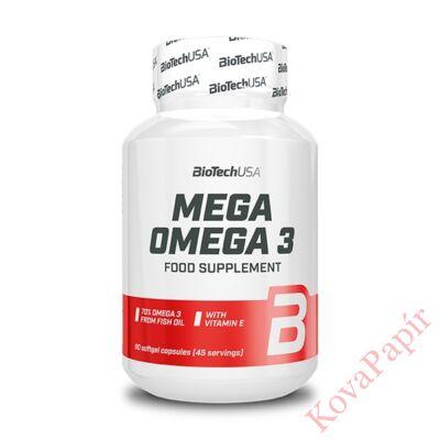 Vitamin BIOTECHUSA Mega Omega 90 db gélkapszula