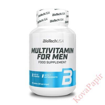 Vitamin BIOTECHUSA Multivitamin for Men 60 db tabletta