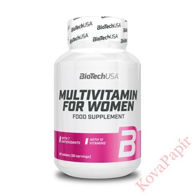 Vitamin BIOTECHUSA Multivitamin for Women 60 db tabletta
