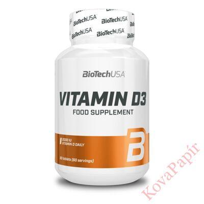 Vitamin BIOTECHUSA Vitamin D3 60 db tabletta